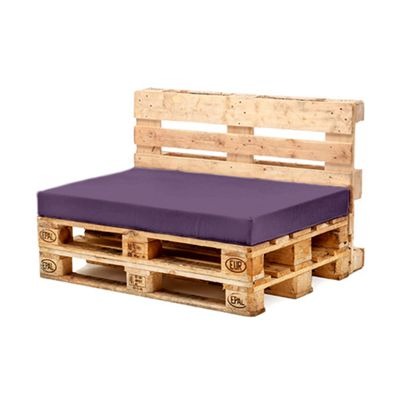 Purple Seat Fibre Printed Pallet Cushions Hollowfibre Garden Patio