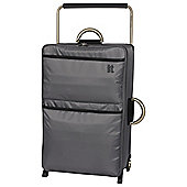 IT Luggage World's Lightest 2 wheel Large Charcoal Suitcase