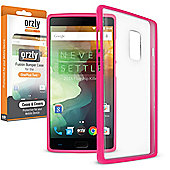 **Orzly** Fusion Case for OnePlus Two - Hot Pink / Clear