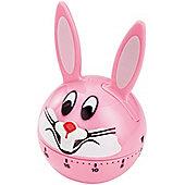 Judge Wind Up 60 Minute Kitchen Timer Pink Rabbit