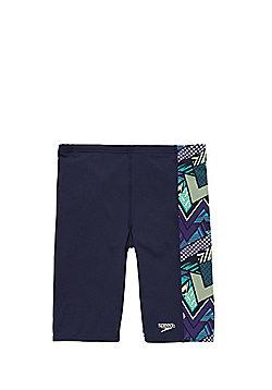 Speedo Endurance®+ Geometric Panel Jammer Shorts - Navy