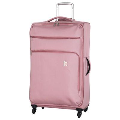 buy it luggage megalite 4 wheel suitcase pink extra large. Black Bedroom Furniture Sets. Home Design Ideas