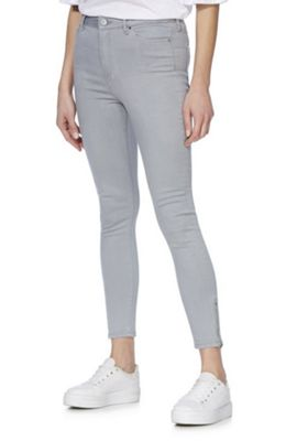 F&F Contour High Rise Skinny Jeans with LYCRA® BEAUTY Grey 10 Regular leg