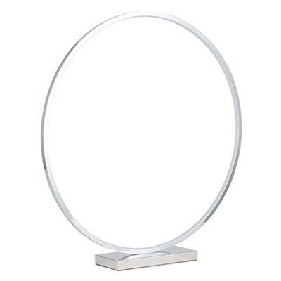 Chrome LED Circle Table Lamp