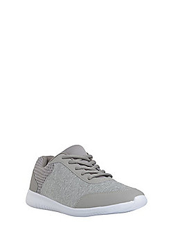 F&F Active Jersey Panel Trainers - Grey