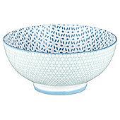 Kenza Large Serving Bowl light blue