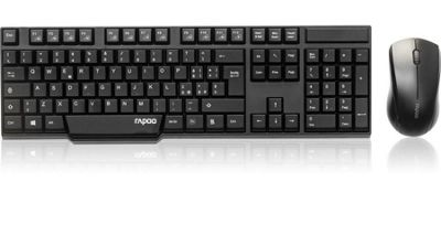 Rapoo 1830 2.4GHz Wireless Desktop Combo Set (Black) UK Layout