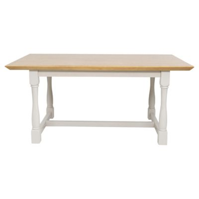 Hardwick 6 Seat Dining Table Oak Effect Grey