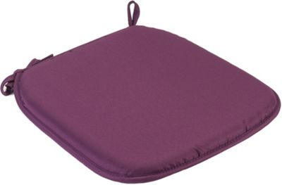 Purple Square Seat Pad Cushion With Ties Pack Of 2