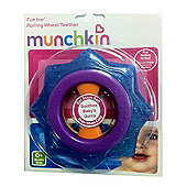 Munchkin Rolling Wheel Teether Blue and Purple