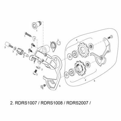 SRAM Cable Anchor/Limit Screw for Rear Derailleur Force