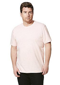 Jacamo Crew Neck T-Shirt - Light pink