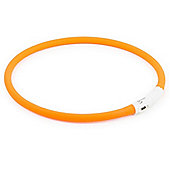 Ancol Rechargeable High Visibility Flashing Dog Band - Orange