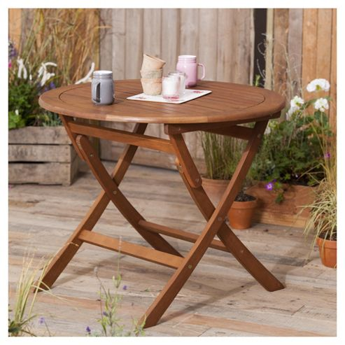 Windsor Wooden Garden Table, Round, 90cm