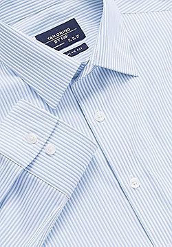 F&F Striped Non Iron Regular Fit Shirt - Blue