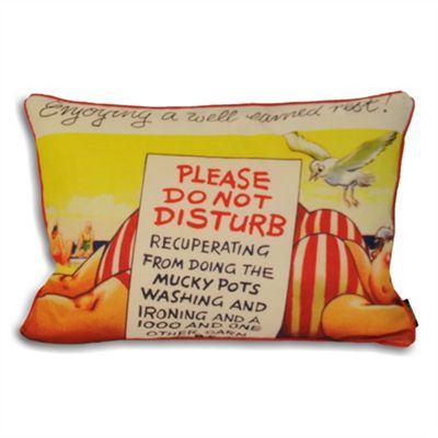 Riva Home Bamforth Do Not Disturb Multicolour Cushion Cover - 35x50cm
