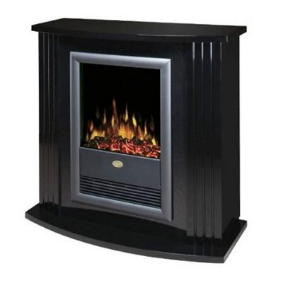 Mozart MZT20BL Fire Suite Optiflame Log Effect, Black Stone Effect Surround