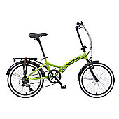 Viking Metropolis Unisex 6 Speed Folding Bike Green