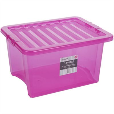 Wham 35L Crystal Box & Lid Tint Pink - Pack of 5
