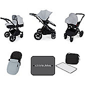 Ickle Bubba Stomp V3 AIO Travel System - Silver (Black Chassis)