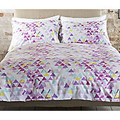 Pink, Geometric King Size Bedding - 100% Cotton
