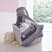 Clair de Lune Pick n Mix Knitted Blanket (Grey)