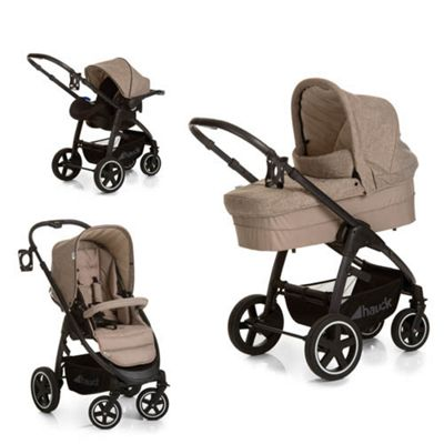 Hauck Soul Plus Trio with Parent Console - Beige/Sand