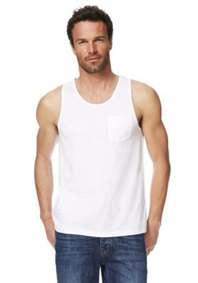 F&F Slub Jersey Vest Top with As New Technology White S
