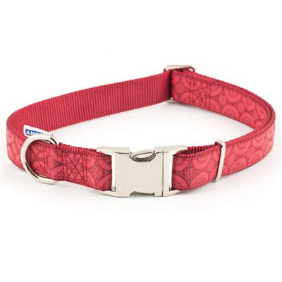Ancol Indulgence Red Adjustable Collar - 20cm-30cm
