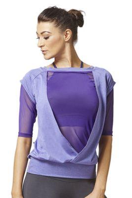 Reversible Mesh Inset Yoga Tee Purple XL