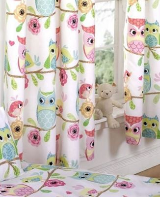 Owl and Friends Curtains 72s
