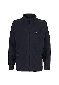 Trespass Mens Bernal Full Zip Fleece Jacket - Black