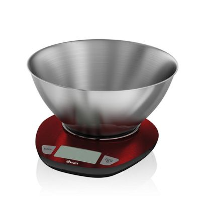 Swan SWKA1060REDN Townhouse Electronic Kitchen Scale - Red