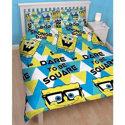 Buy Spongebob Squarepants Happy Double Duvet Cover & Pillowcase ... : spongebob quilt cover - Adamdwight.com