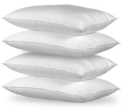 Happy Beds Deep Sleep Support Pack of 4 Pillows