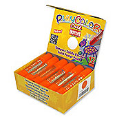 Playcolor Basic One 10g Solid Poster Paint Stick (Pack of 12 - Orange)