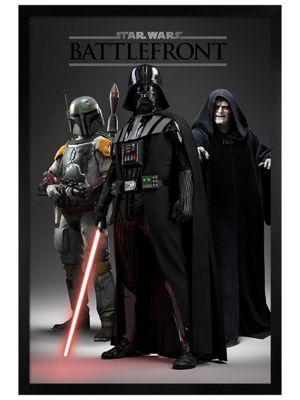 Star Wars Black Wooden Framed Battlefront Dark Side Poster 61x91.5cm