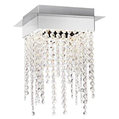 Modern Chrome Plated LED Ceiling Light with Crystal Glass Beads