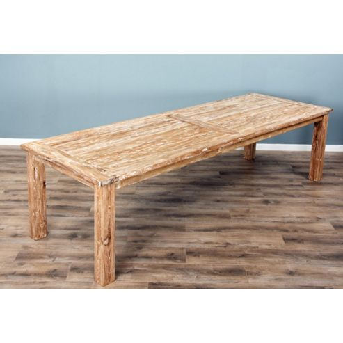 3m Mexico Reclaimed Teak Dining Table - White Wash