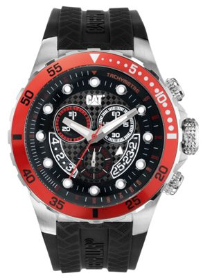 CAT P52 Sport Mens Rubber Chronograph, Day & Date Watch YN.143.21.128