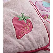 Pink Fleece Blanket - Cupcake
