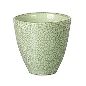 Parlane Ceramic Crackle Green Flower / Plant Pot - 15 x 15.5cm