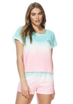 F&F Watermelon Ombre Pyjamas Green/Pink 12-14