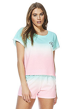F&F Watermelon Ombre Pyjamas - Green/Pink