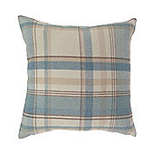 McAlister Heritage Cushion - Blue Wool Look Tartan Check