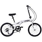 "Schiano I-Fold 20"" Wheel Folding 6 Speed Bike White"