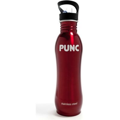 Punc Curved Stainless Steel 750ml Bottle Red