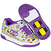 Heelys Dual Up Silver/Purple/Emoji Kids Heely Shoe - Silver