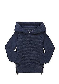 F&F Ripple Textured Jersey Hoodie - Navy
