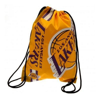NBA Basketball Los Angeles Lakers Cropped Logo Drawstring Backpack 49x34x1.5cm